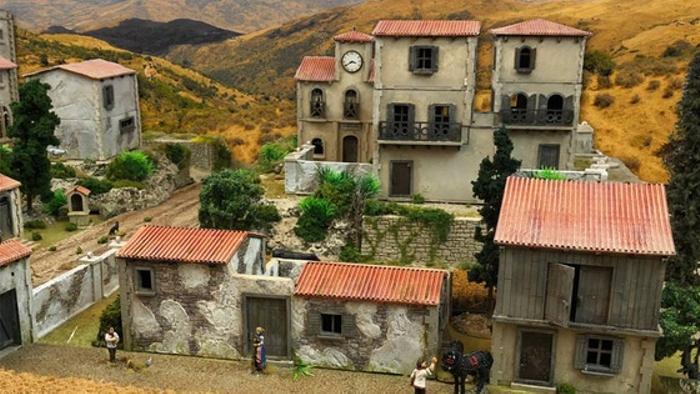 Mediterranean Village, 28mm, laser-cut HDF terrain | Board