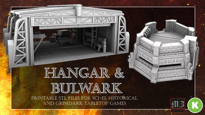 Hangar and Bulwark - Wargaming & Skirmish Printable Terrain | Board
