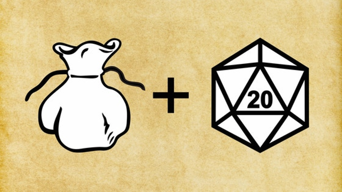 A Simple d20 Dice Bag - with d20s