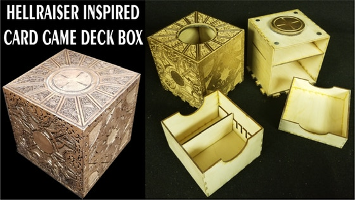 Hellraiser Inspired Puzzle Boxes & Deck Boxes for card games