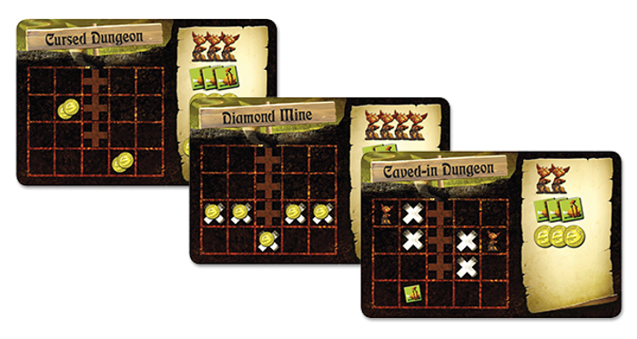 Dungeon Lords: Dungeon-Setup Tiles