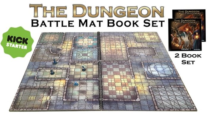 The Dungeon - Set of 2 Modular Books of Battle Mats for RPG