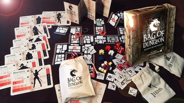 Bag of Dungeon - a mini-fantasy adventure game in a bag