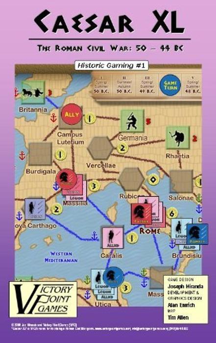 Caesar XL The Roman Civil War: 50 - 44 BC - Historical War Board Game