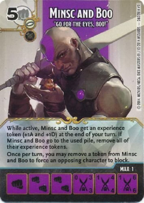 Dungeons & Dragons : D&D Forgotten Realms: Battle for Faerun: Minsc and Boo - Go for the Eyes, Boo! (Promo Card & Die)