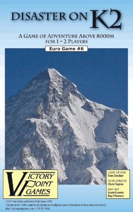 Disaster on K2 - A Game of Adventure Above 8000M for 1 - 2 Players - Euro Sports Board Game