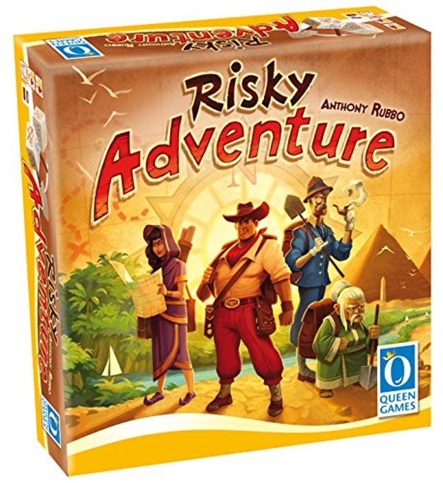 Queen Games Risky Adventure Family Dice Board Game