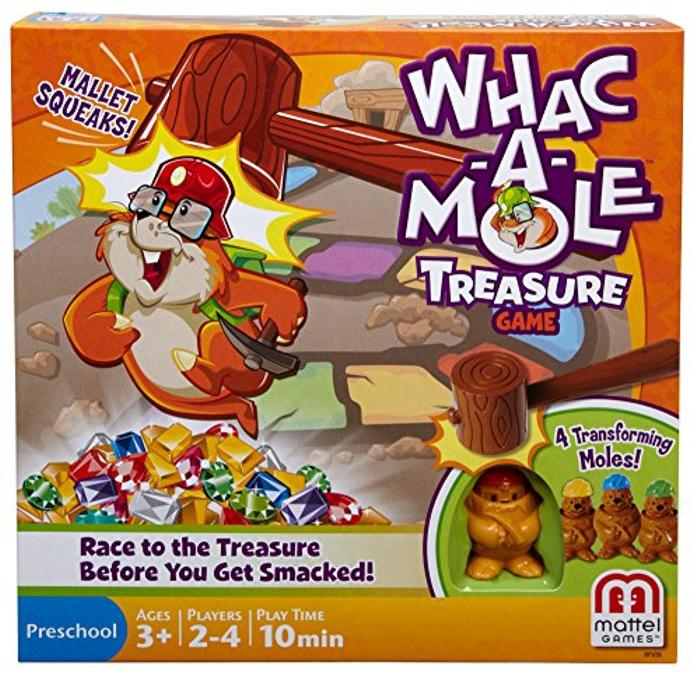 Mattel Games Whac-a-Mole Treasure Game