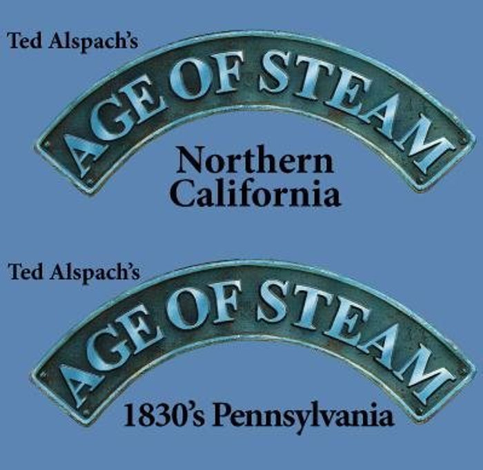 Steam/Age of Steam Expansion: 1830's Pennyslvania & Northern California