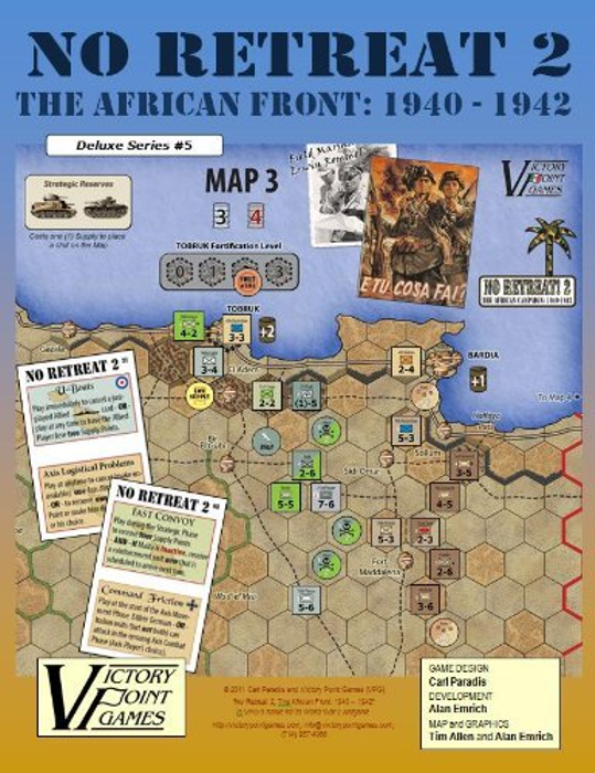 No Retreat 2 - The African Front: 1940 - 1942 - World War 2 Board Game