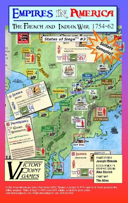 Empires in America - States of Siege TM # 3 - The French and Indian War Board Game