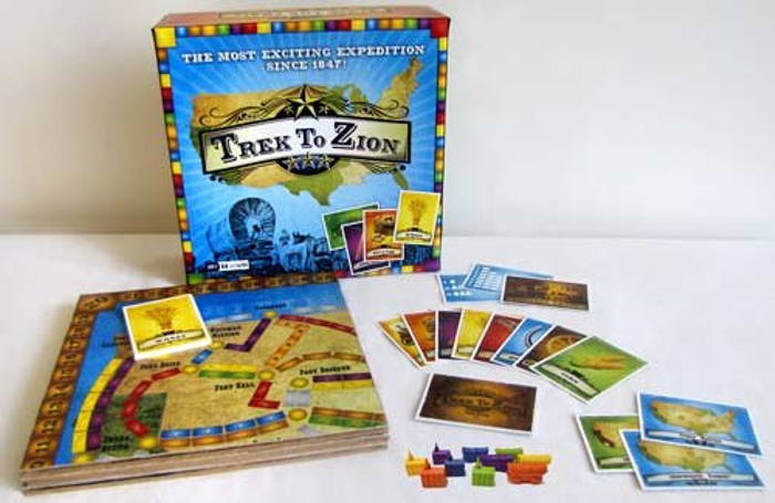 Trek to Zion - The Most Exciting Expedition Since 1847 - Strategic Board Game - Mormon Pioneers Trek to Zion - Mormon Temples Wagon Trains