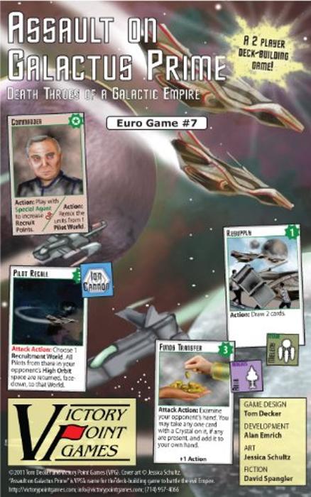 Assault on Galactus Prime - SciFi, Fantasy, Space Race Board Game