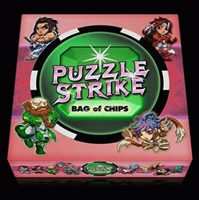 Puzzle Strike: Bag of Chips Card Game featuring 10 Characters from Fantasy Strike