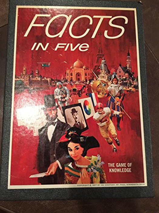 1967 FACTS IN FIVE:  Book Shelf Game -Complete