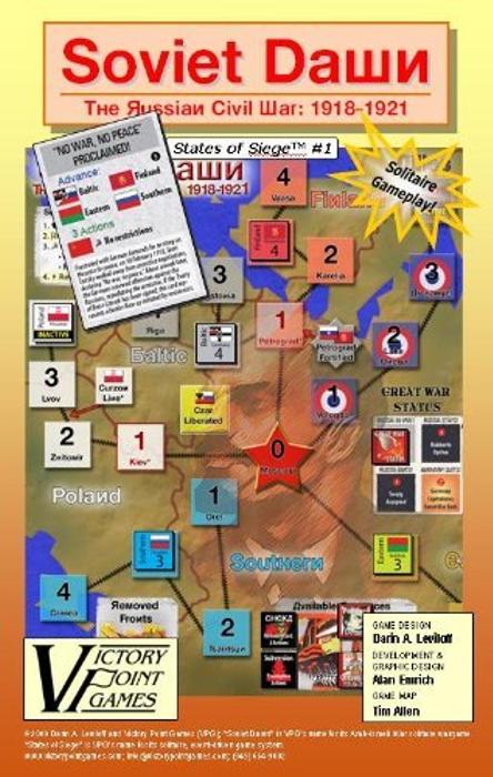 Soviet Dawn - The Russian Civil War: 1918-1921 Solitaire War Board Game