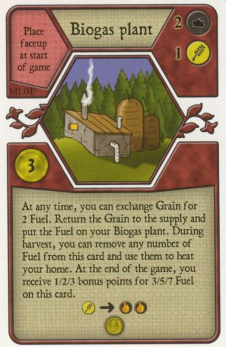 Agricola: Biogas Plant Promo Card