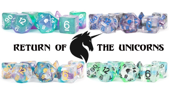 Return of the Unicorns RPG Polyhedral Dice Sets