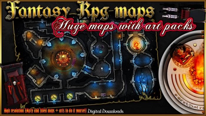 4 RPG Fantasy maps and 4 Art Packs.