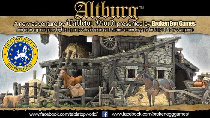 Tabletop World's Altburg Stable 32mm resin cast terrain