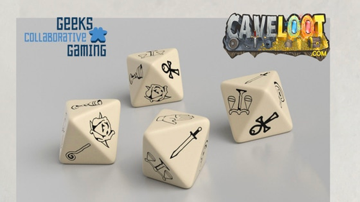 Virtue Symbol 8-Sided (D8) Engraved Polymer Dice