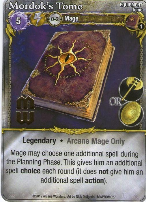 Mage Wars: Mordok's Tome Promo Card