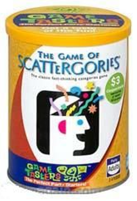 Game Tasters: The Game of Scattergories