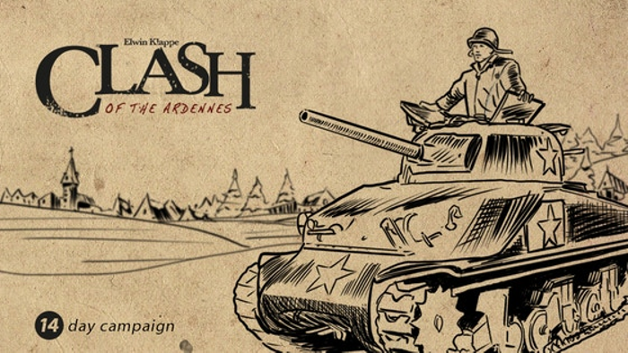 Clash of the Ardennes - a World War 2 board and card game