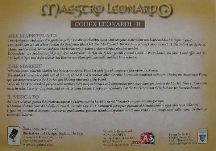 Maestro Leonardo: Codex Leonardi – II