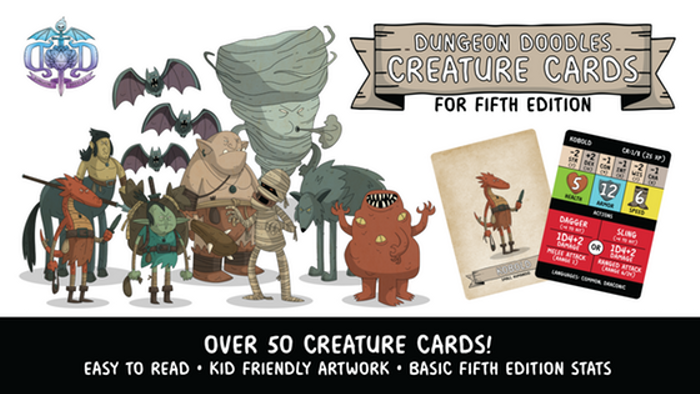 Dungeon Doodles Fifth Edition Creature Cards for Kids!