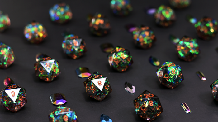 Dispel Dice Debut Collection With Sharp Edges & Inclusions