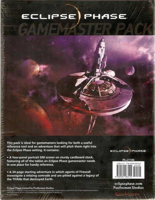 Eclipse Phase Gamemaster Pack