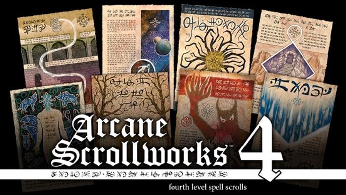 Arcane Scrollworks 4: Fourth Level Spell Scrolls