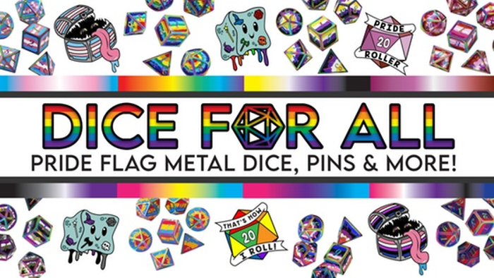 Dice For All: Metal Pride Flag Dice and More!