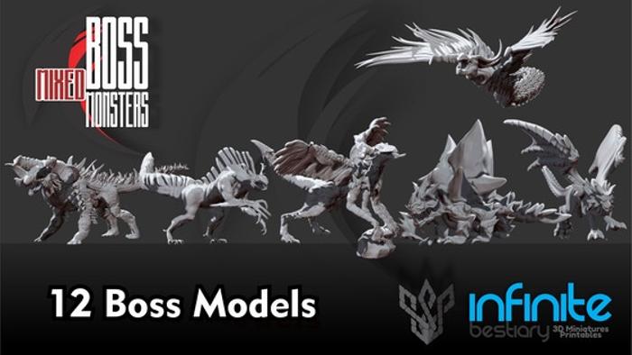 Boss Mixed Monsters 3d Printable War-Games.