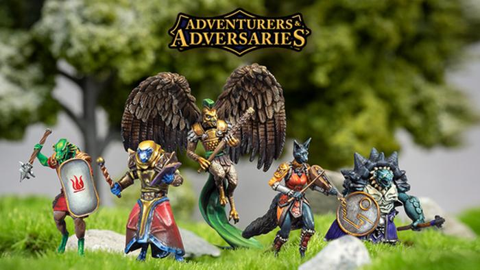 Adventurers & Adversaries Wave 2: Modular RPG Miniatures