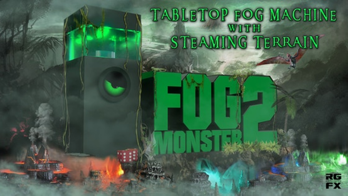 Fog Monster 2 Tabletop Fog Machine w/ New Steaming Terrain