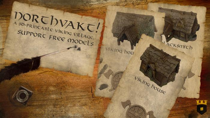 Northvakt, a 3D printable viking village!