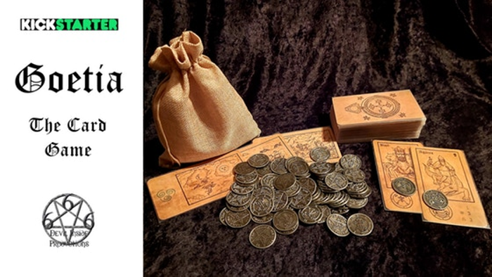 Goetia - The Card Game + full set of metal Demon Seal coins