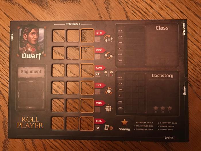 Roll Player Dwarf character sheet