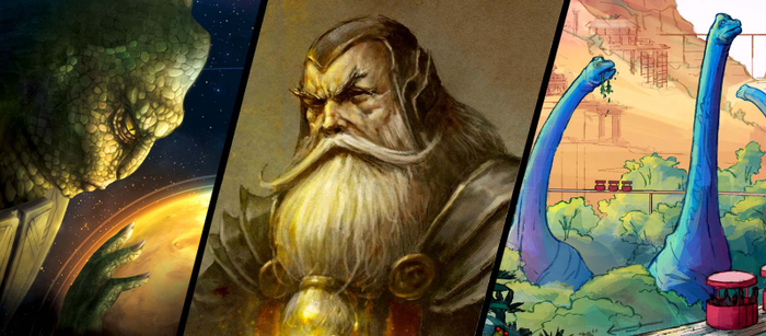 3 Upcoming Kickstarter Board Games – Chronicles, Galaxies and Dinosaur Islands image