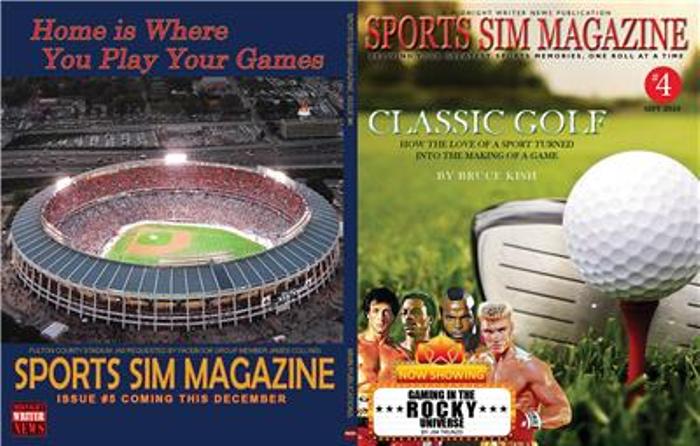Sports Sim Magazine #4 covers