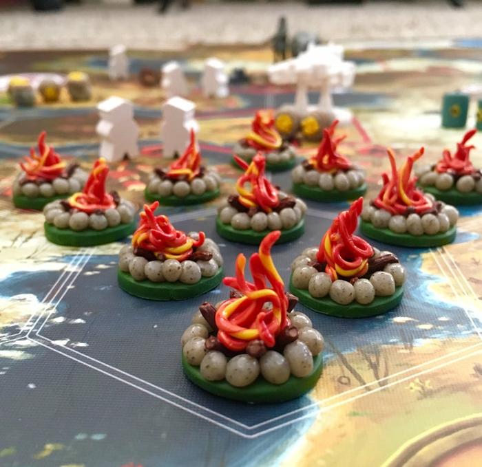 How to make campfire Encounter Tokens for Scythe! image